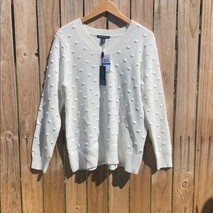 Brand new Cable & Gauge white v-neck sweater